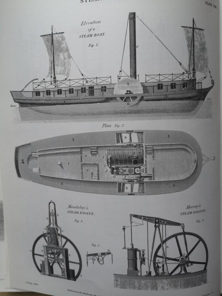 Steam Boat Rees Cyclopaedia