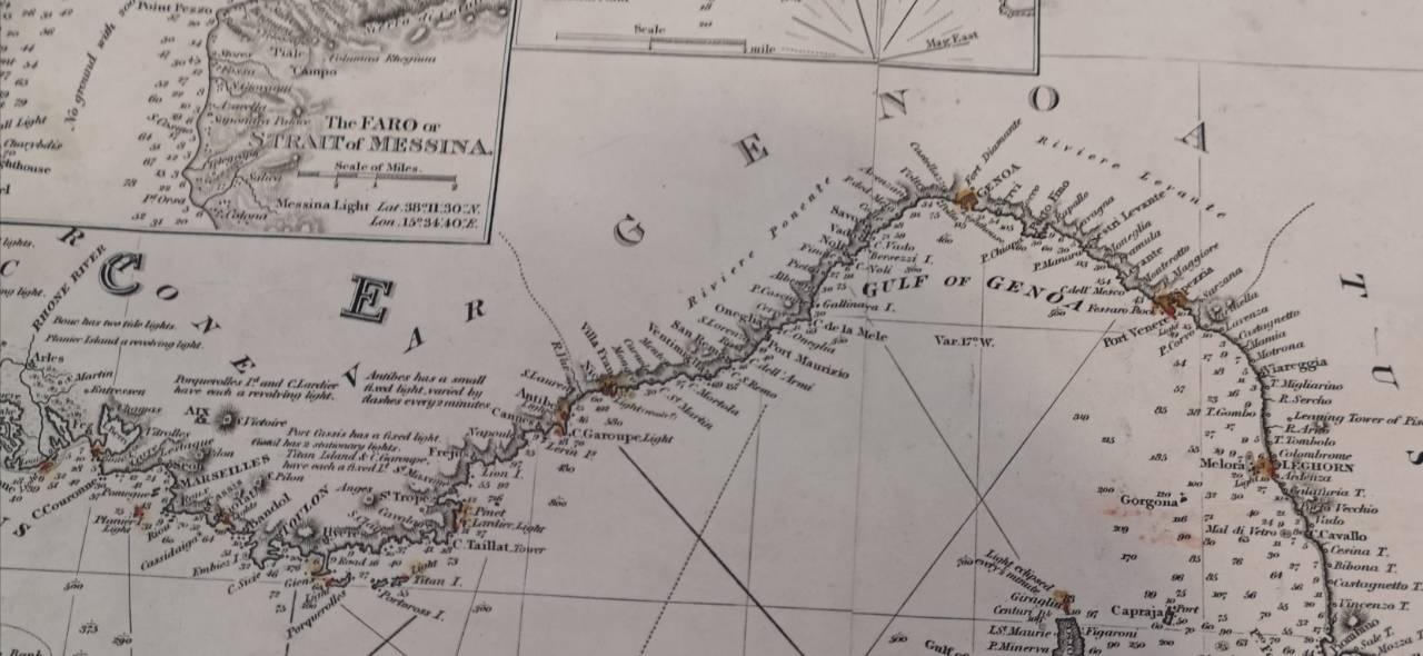 Map Leghorn to Marseilles