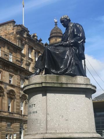 James Watt statue George Square