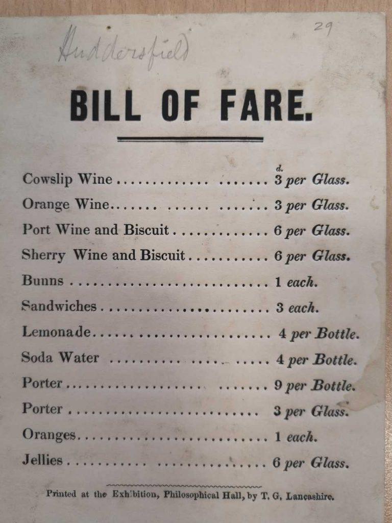 Drinks Bill Huddersfield