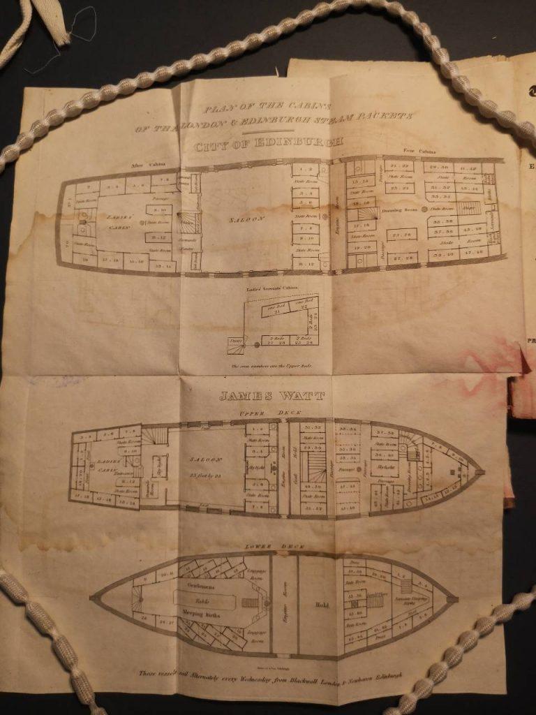 Plan of the James Watt and the City of Edinburgh